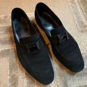 HERMÈS - Suede Royal loafers ALL Black, 9.5